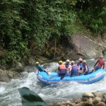 Abenteuer pur das wildwasser Rafting in Phang Nga.