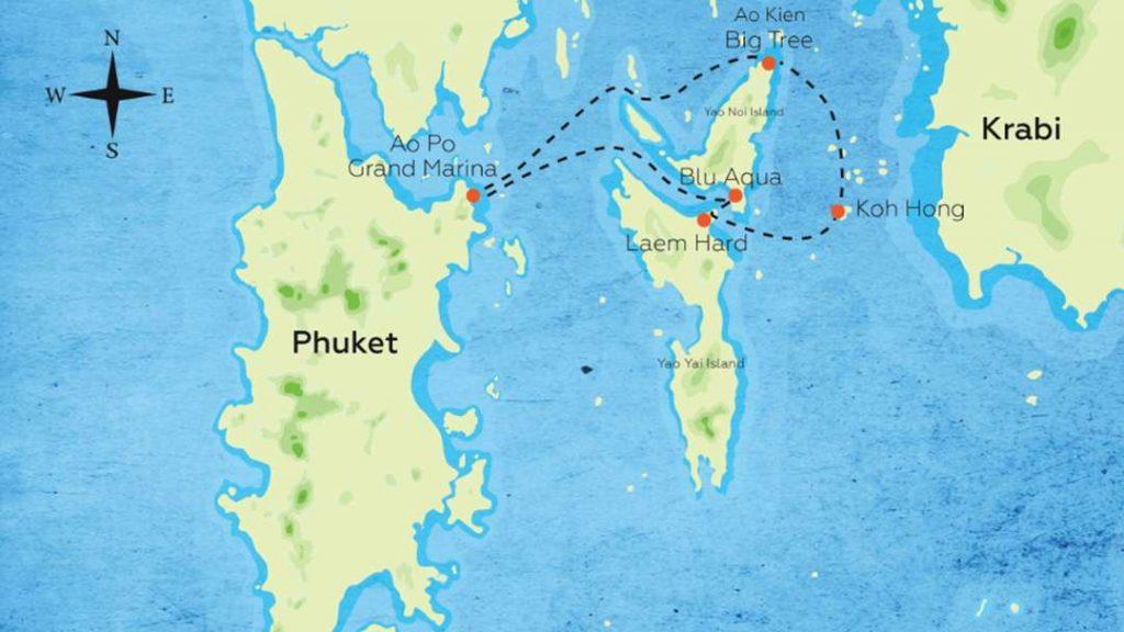 Hong Island Tour - Itinerary Map