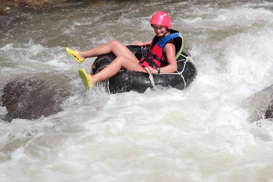 Tubing down the River in kapong